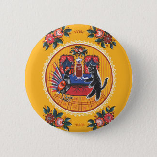 The tea party 6 cm round badge