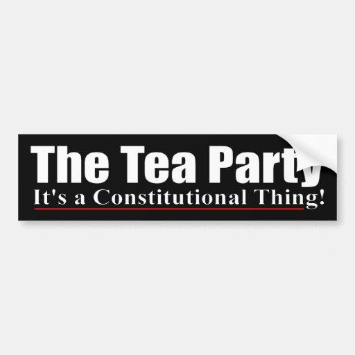 The Tea Party Car Bumper Sticker