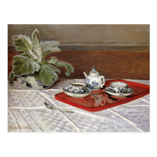 The Tea Set by Claude Monet Postcard