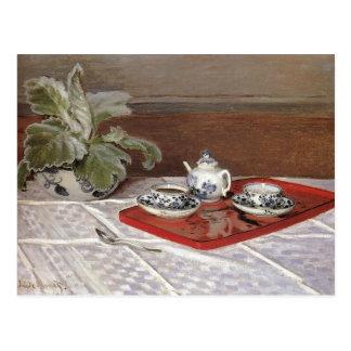 The Tea Set - Claude Monet Postcard