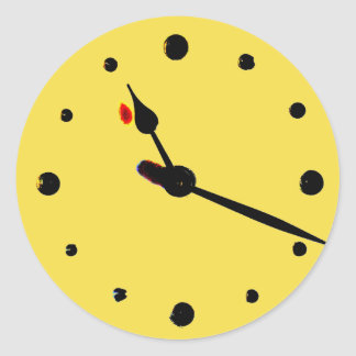 The Tea-time Tick-tock Time-piece Sticker