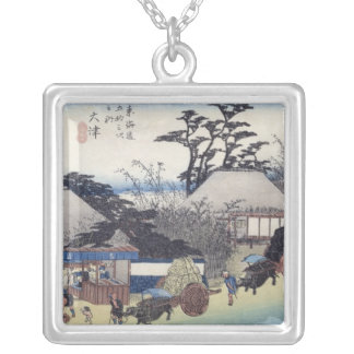 The Teahouse at the Spring, Otsu Silver Plated Necklace
