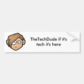 the tech dude bumper sticker car bumper sticker
