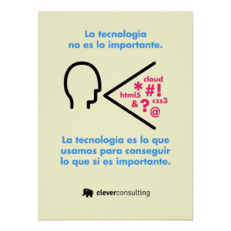 The technology is not the important thing poster