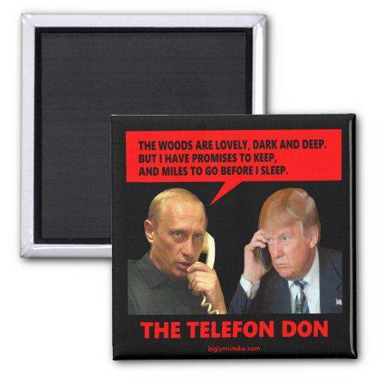 The Telefon Don Square Magnet
