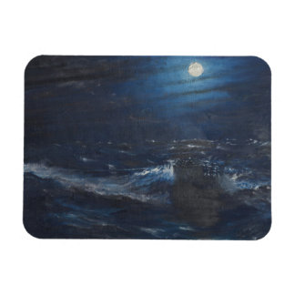 The Tell tale Moon Rectangular Photo Magnet
