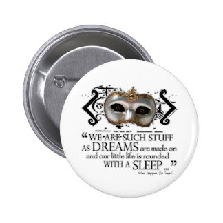 The Tempest Quote 6 Cm Round Badge