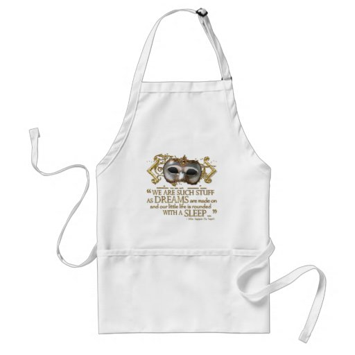 The Tempest Quote (Gold Version) Aprons
