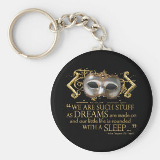 The Tempest Quote (Gold Version) Key Ring
