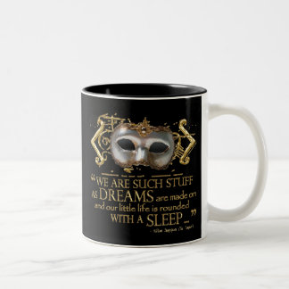 The Tempest Quote (Gold Version) Coffee Mugs