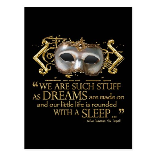 The Tempest Quote (Gold Version) Postcard