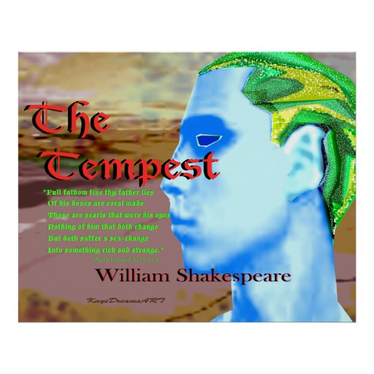 The Tempest quote Poster