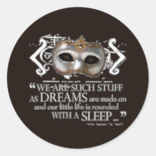 The Tempest Quote Round Sticker