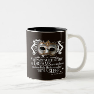 The Tempest Quote Two-Tone Coffee Mug