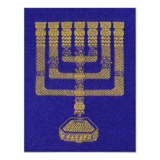 The Temple Lampstand stationary flat 11 Cm X 14 Cm Invitation Card