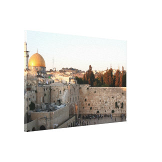 The Temple Mount in Jerusalem Stretched Canvas Prints