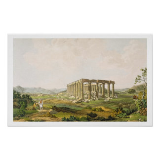 The Temple of Apollo Epicurius, plate 25 from Part Poster