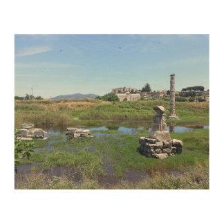 The Temple of Artemis in Ephesus, Turkey Wood Print