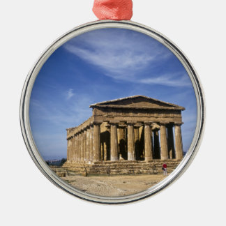 The Temple of Concordia in  Agrigento,Italy Silver-Colored Round Decoration