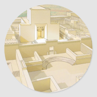 The Temple of Jerusalem Classic Round Sticker