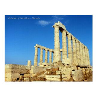 The temple of Poseidon in Sounio Postcard