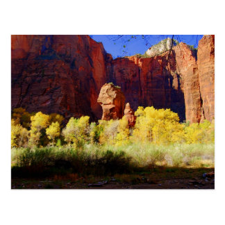 The Temple of Sinawava, Zion, Utah, Postcard