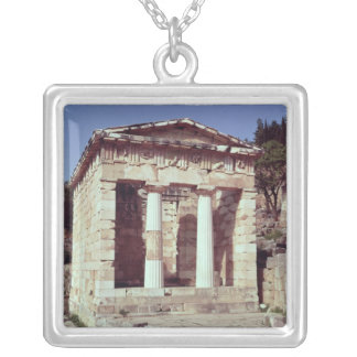 The Temple of the Treasures of the Athenians Silver Plated Necklace
