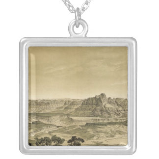 The Temples and Towers of the Virgen Silver Plated Necklace
