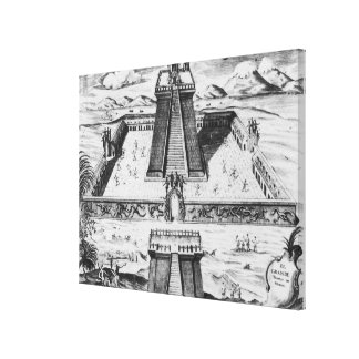 The Templo Mayor at Tenochtitlan Canvas Print