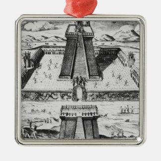 The Templo Mayor at Tenochtitlan Christmas Ornament