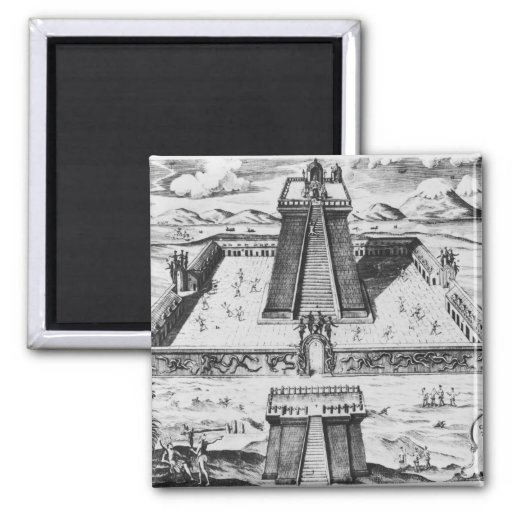 The Templo Mayor at Tenochtitlan Fridge Magnet