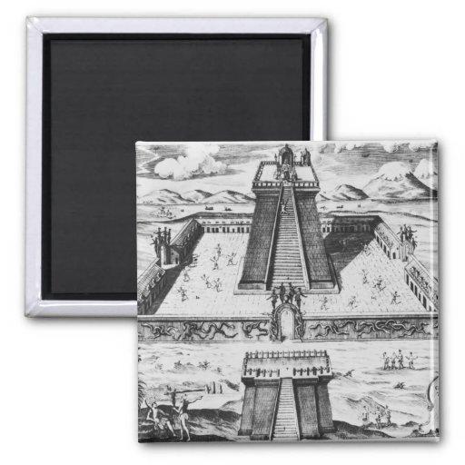 The Templo Mayor at Tenochtitlan Refrigerator Magnet