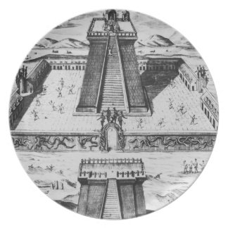 The Templo Mayor at Tenochtitlan Party Plate