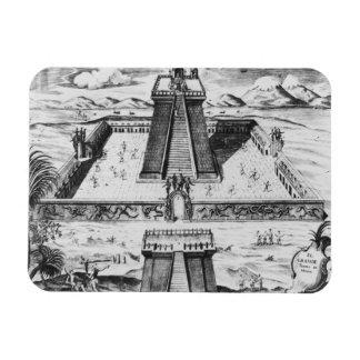 The Templo Mayor at Tenochtitlan Rectangular Photo Magnet