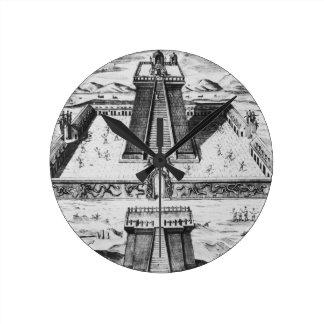 The Templo Mayor at Tenochtitlan Round Clock