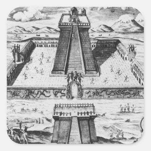 The Templo Mayor at Tenochtitlan Square Sticker