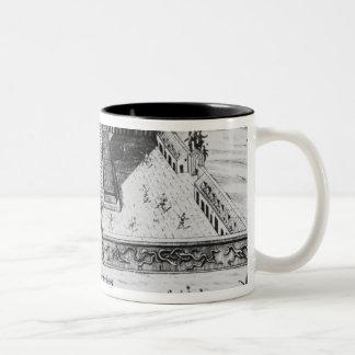 The Templo Mayor at Tenochtitlan Two-Tone Coffee Mug