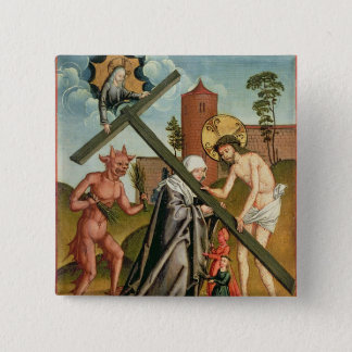 The Temptation of a Saint 15 Cm Square Badge