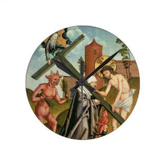 The Temptation of a Saint Round Clock