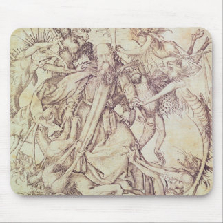 The Temptation of St. Anthony (engraving) Mouse Mat