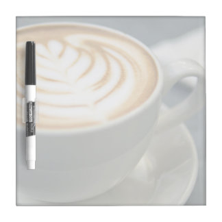 The tempting grains of cappuccino latte art dry erase board