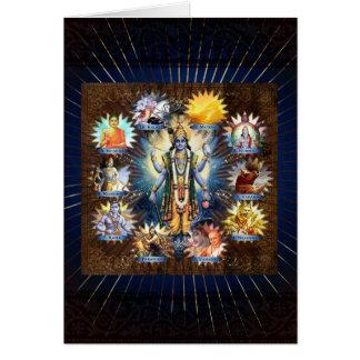 The Ten Avatars Of Vishnu - Card, Greeting, Note Greeting Card