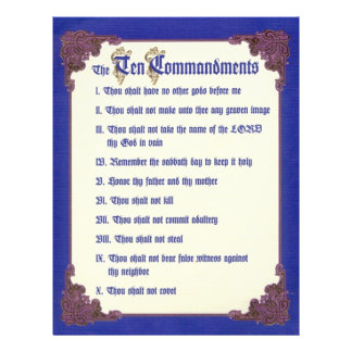 THE TEN COMMANDMENTS 21.5 CM X 28 CM FLYER