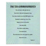 The Ten Commandments - Aqua Splash Print