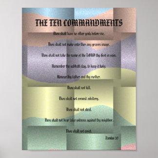 The Ten Commandments - Color Mix Ribbon Poster
