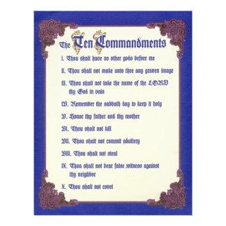THE TEN COMMANDMENTS FLYER