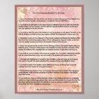 The Ten Commandments for Women Poster