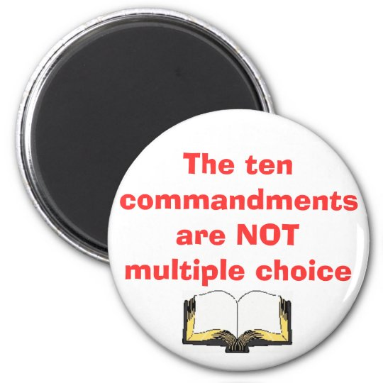 The ten commandments Magnet