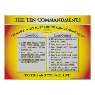 The Ten Commandments Poster