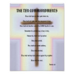 The Ten Commandments - Rainbow Cross Poster